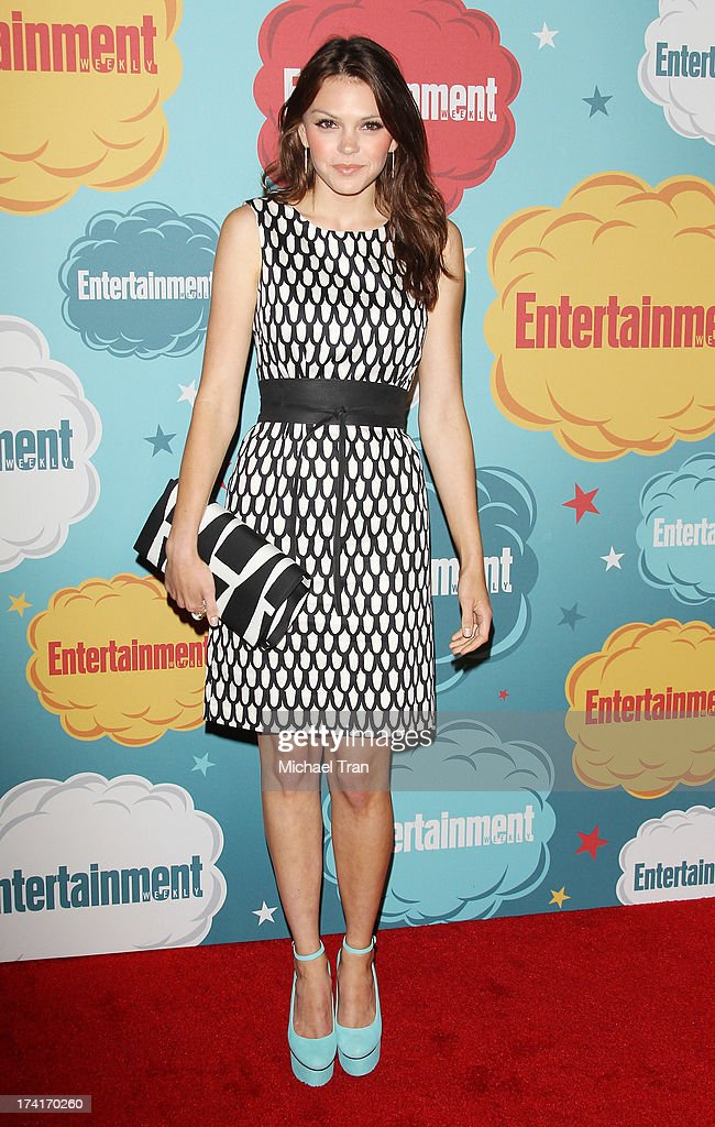 Aimee Teegarden arrives at the Entertainment Weekly's Annual Comic-Con celebration held at Float at Hard Rock Hotel San Diego on July 20, 2013 in San Diego, California.