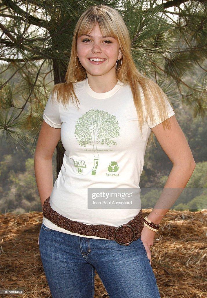 Aimee Teegarden during Environmental Media Association and E Entertainment Television Tree Planting Event Arrivals at TreePeople Headquarters in Los...