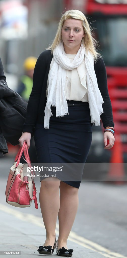 Aimee West fiancee of murdered fusilier Lee Rigby arrives at the Old Bailey on December 2 2013 in London England Michael Adebolajo and Michael...
