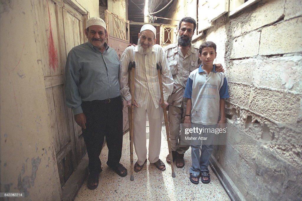 Ain El Helweh Camp the Al Mekdah family Khalil his son Hussein Kalil his grandson Mounir Hussein his greatgrandson Hussein Mounir