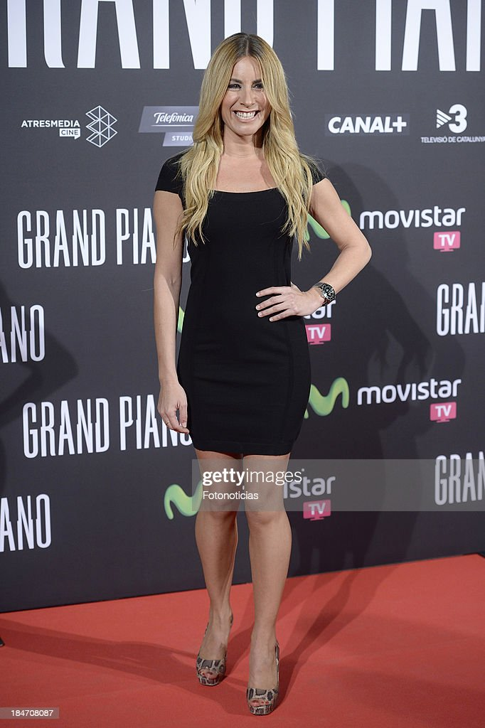 Ainhoa Arbizu attends the premiere of 'Grand Piano' at Capitol cinema on October 15, 2013 in Madrid, Spain.