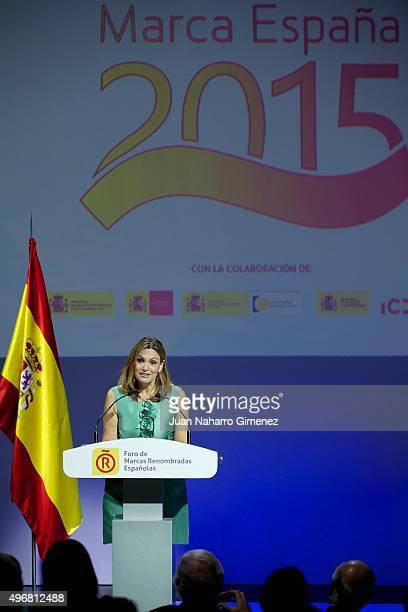 Ainhoa Arteta attends a meeting with ambassadors of the Spanish Brand at Auditorio Ciudad BBVA on November 12 2015 in Madrid Spain