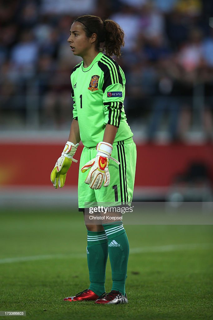 Ainhoa Tirapu of Spain looks on during the UEFA Women's EURO 2013 Group C match between England and Spain at Linkoping Arena on July 12, 2013 in Linkoping, Sweden.