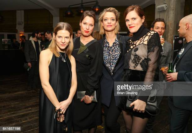 Aino Laberenz a guest Heike Makatsch and Fritzi Haberlandt attending the Studio Babelsberg x Canada Goose Party at Soho House Berlin during the 67th...