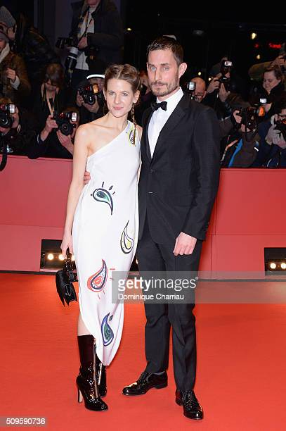 Aino Laberenz and Clemens Schick attend the 'Hail Caesar' premiere during the 66th Berlinale International Film Festival Berlin at Berlinale Palace...