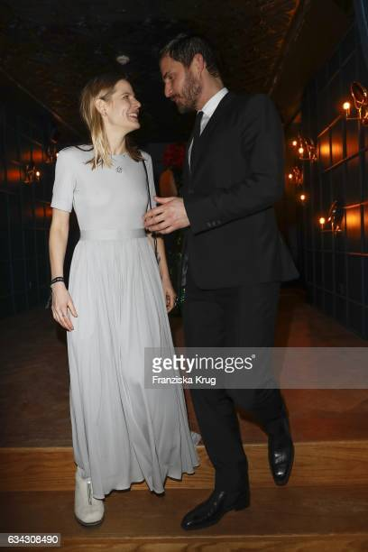 Aino Laberenz and Clemens Schick attend the INTERVIEW MAGAZINE 5 Years Anniversary party at the Provocateur Hotel on February 8 2017 in Berlin Germany