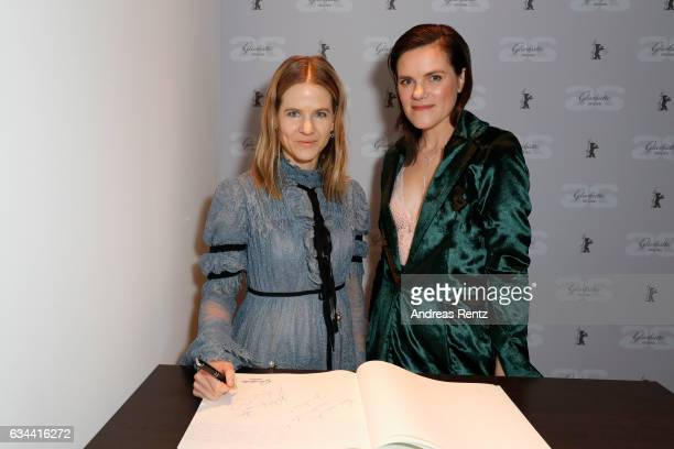 Aino Laberenz and Fritzi Haberlandt attend the Golden Bear Lounge by Glashuette Original on February 9 2017 in Berlin Germany