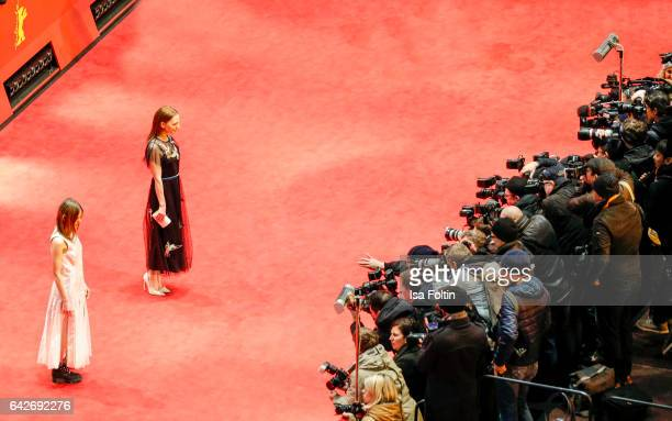 Aino Laberenz and german actress Katharina Schuettler attend the closing ceremony of the 67th Berlinale International Film Festival at Berlinale...