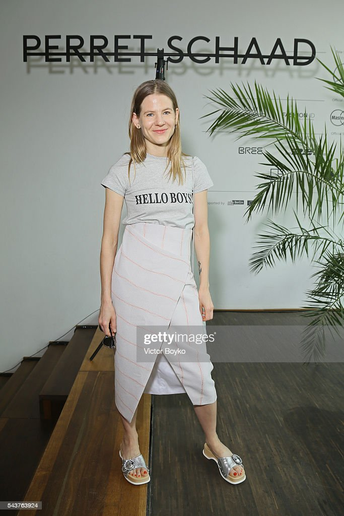 Aino Laberenz attends the Perret Schaad show during the Mercedes-Benz Fashion Week Berlin Spring/Summer 2017 at Stage at me Collectors Room on June 30, 2016 in Berlin, Germany.
