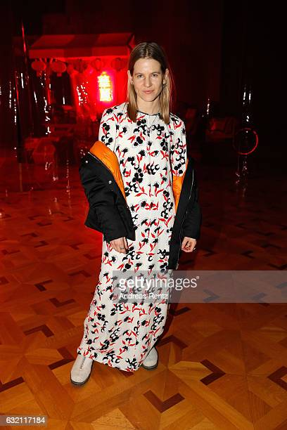Aino Laberenz attends the William Fan defile during the Der Berliner Mode Salon A/W 2017 at Kronprinzenpalais on January 19 2017 in Berlin Germany