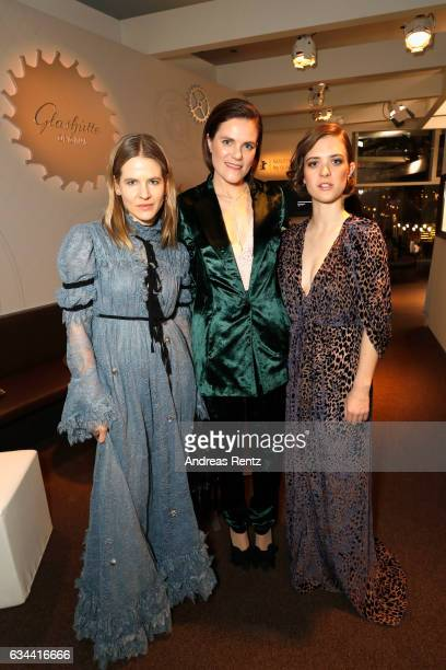 Aino Laberenz Fritzi Haberlandt and _____ attend the Golden Bear Lounge by Glashuette Original on February 9 2017 in Berlin Germany