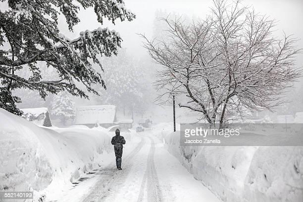 Ainokura in winter, Japanese Alps