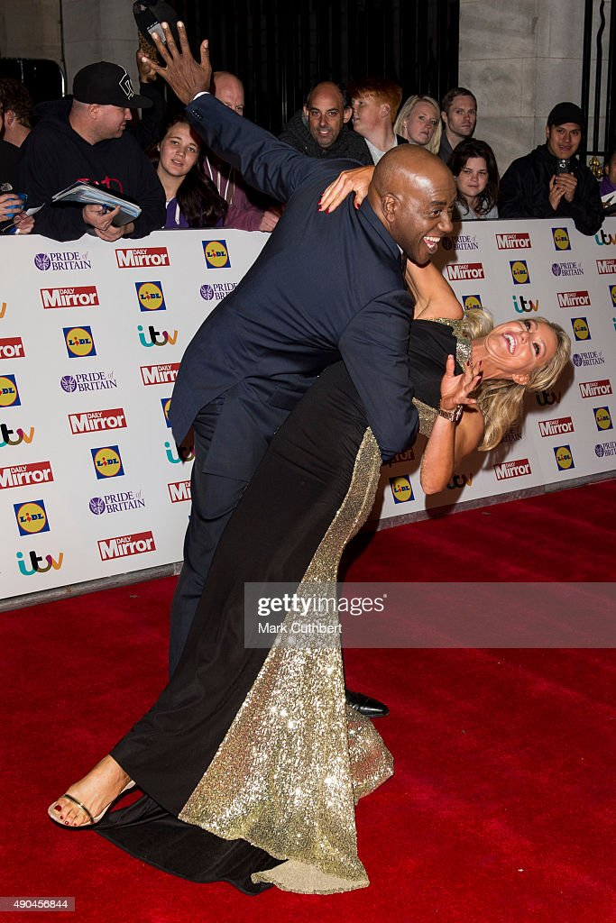 Ainsley Harriott and Natalie Lowe attend the Pride of Britain awards at The Grosvenor House Hotel on September 28, 2015 in London, England.