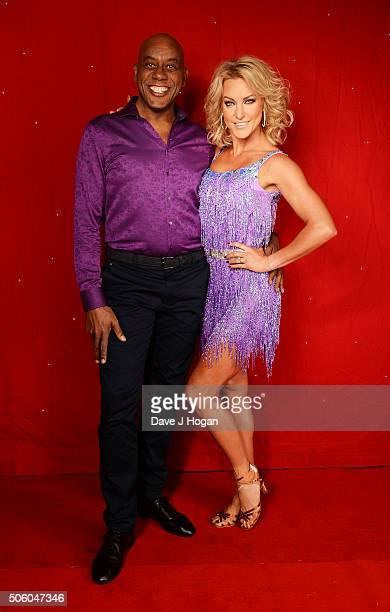 Ainsley Harriott and Natalie Lowe backstage at the Strictly Come Dancing Live Tour rehearsals Strictly Come Dancing Live Tour opens tomorrow 22nd...