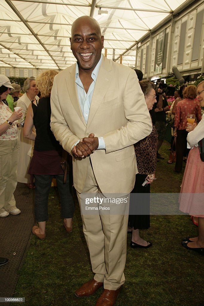 Ainsley Harriott attends the Press & VIP preview at The Chelsea Flower Show at Royal Hospital Chelsea on May 24, 2010 in London, England.