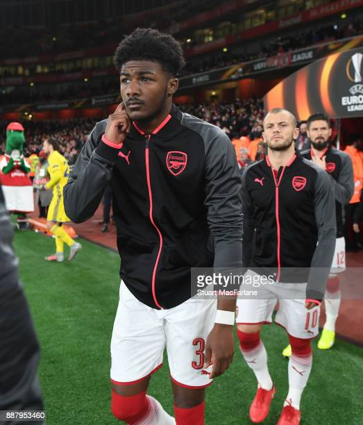 Ainsley MaitlandNiles of Arsenal before the UEFA Europa League group H match between Arsenal FC and BATE Borisov at Emirates Stadium on December 7...