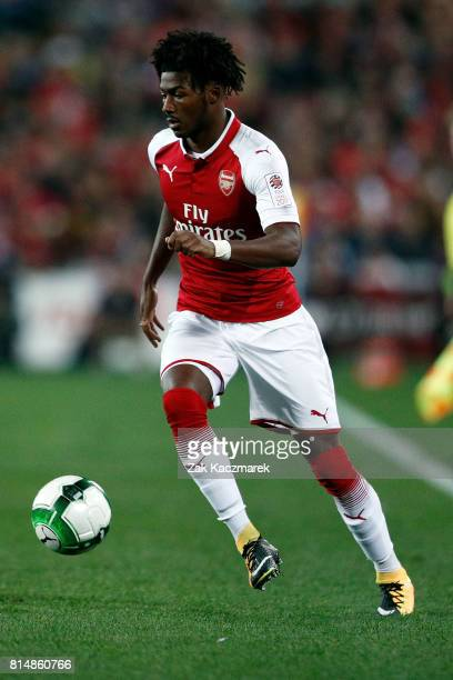 Ainsley MaitlandNiles of Arsenal controls the ball during the match between the Western Sydney Wanderers and Arsenal FC at ANZ Stadium on July 15...