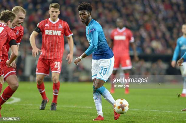 Ainsley MaitlandNiles of Arsenal controls the ball during the UEFA Europa League Group H soccer match between 1FC Cologne and Arsenal FC at the...