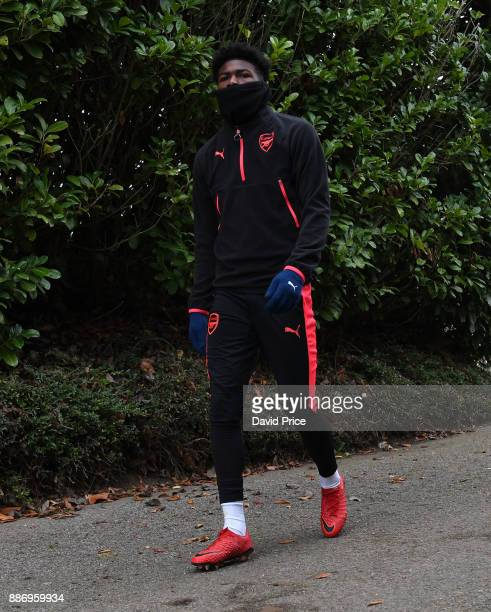 Ainsley MaitlandNiles of Arsenal during an Arsenal Training Session at London Colney on December 6 2017 in St Albans England
