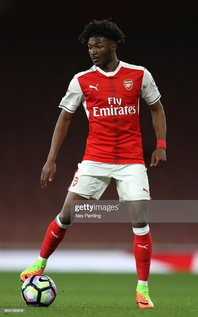 Ainsley Maitland-Niles of Arsenal in action during the Premier League 2 match between Arsenal and Manchester City at Emirates Stadium on March 13, 2017 in London, England.