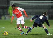 Ainsley MaitlandNiles of Arsenal takes on Tom Lowery of Crewe during the match between Arsenal U18 and Crewe Alexandra U18 in the FA Youth Cup 5th...