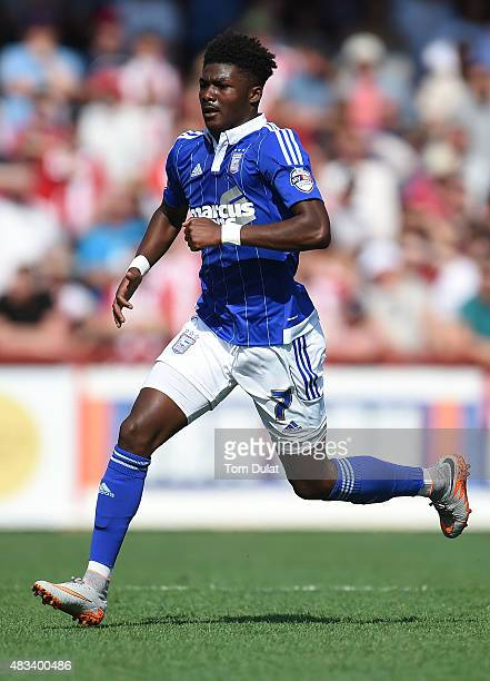 Ainsley MaitlandNiles of Ipswich Town in action during the Sky Bet Championship match between Brentford and Ipswich Town at Griffin Park on August 8...