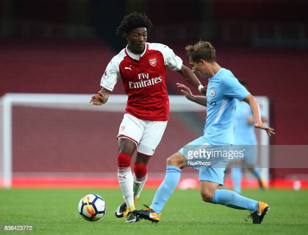 Ainsley MaltlandNiles of Arsenal U23s during Premier League 2 match between Arsenal Under 23s against Manchester City Under 23s at Emirates Stadium...
