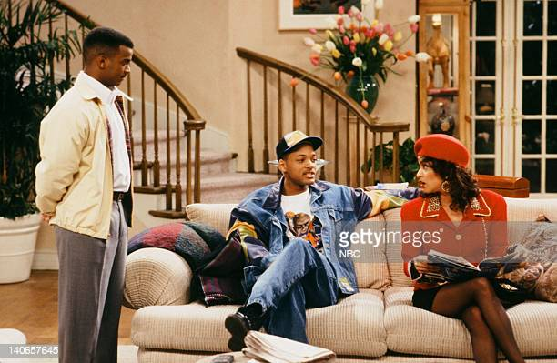 AIR 'Ain't No Business Like Show Business' Episode 22 Pictured Alfonso Ribeiro as Carlton Banks Will Smith as William 'Will' Smith Karyn Parsons as...