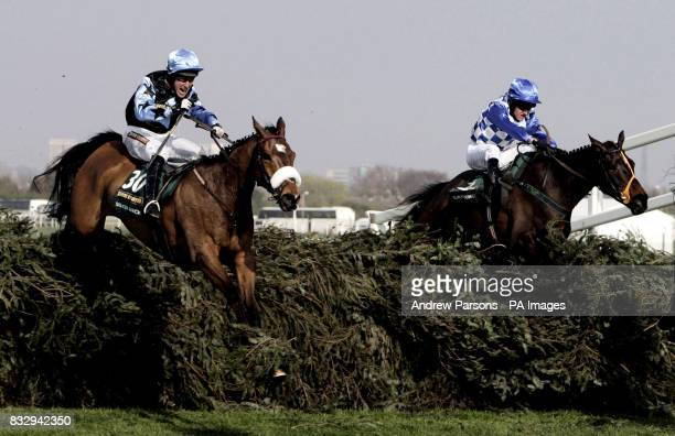 Aintree 10** Silver Birch ridden by jockey Robbie Power jumps the last on the way to winning the The John Smith's Grand National Steeple Chase at...