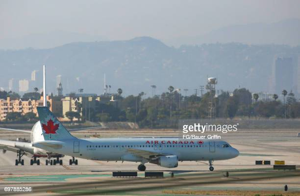 Air Canada Airbus A320 at Los Angeles International Airport on June 18 2017 in Los Angeles California
