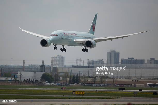 Air Canada's new 787 Dreamliner comes in for a landing at Toronto Pearson International Airport This is Air Canada's first of 37 Boeing 787...