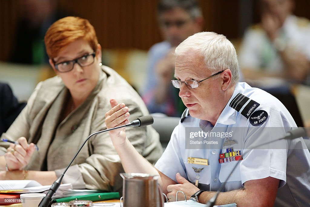 Air Chief Marshal Mark Binskin AC during the Foreign Affairs, Defence and Trade Committee hearing on February 10, 2016 in Canberra, Australia.