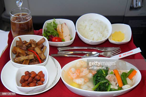 Air China onboard cabin business class inflight meal