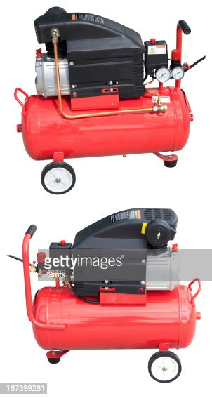 Air compressor with clipping path : Stock Photo