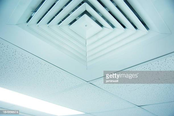 air conditioner vent close up in ceiling