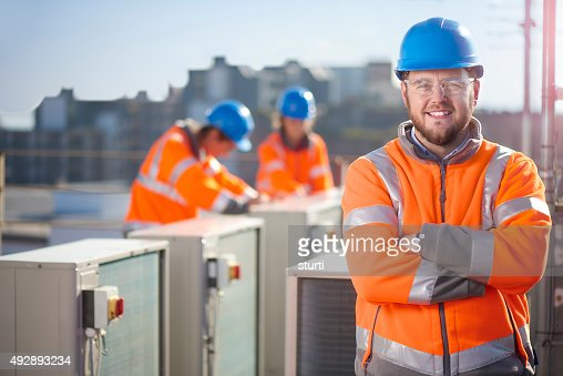 air conditioning engineer portrait