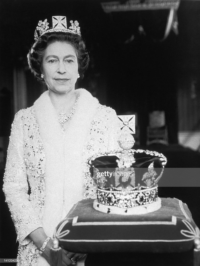 Her Majesty Queen Elizabeth II of England with the Imperial State Crown -- Photo by: NBCU Photo Bank