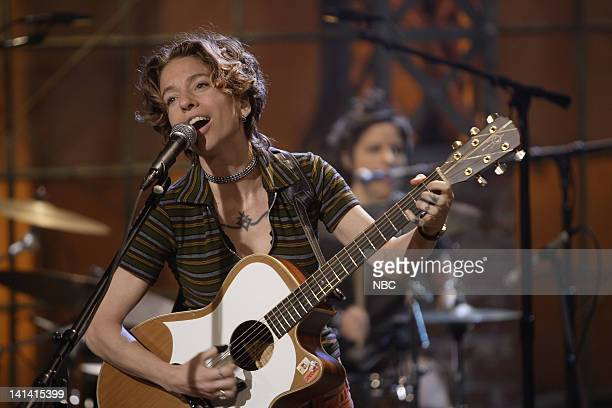 LENO Air Date Episode 3527 Pictured Musical guest Ani DiFranco perfoms on April 2 2008 Photo by Paul Drinkwater/NBCU Photo Bank