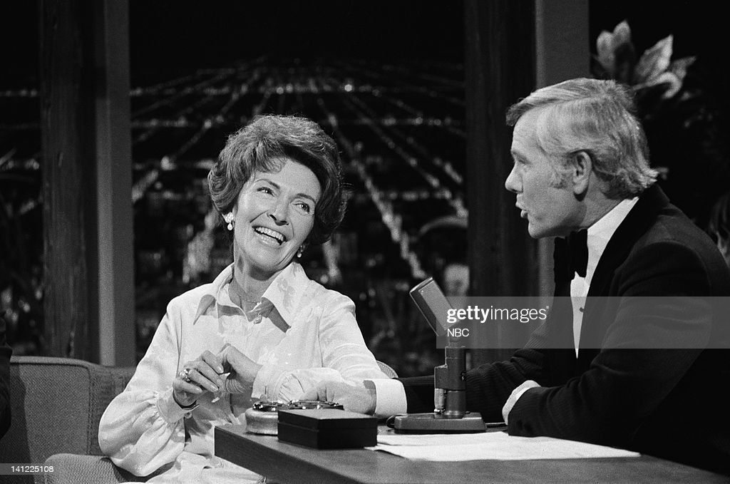 CARSON -- Air Date -- Pictured: (l-r) First Lady of California Nancy Reagan, host <a gi-track='captionPersonalityLinkClicked' href=/galleries/search?phrase=Johnny+Carson&family=editorial&specificpeople=206990 ng-click='$event.stopPropagation()'>Johnny Carson</a> -- Photo by: Frank Carroll/NBCU Photo Bank