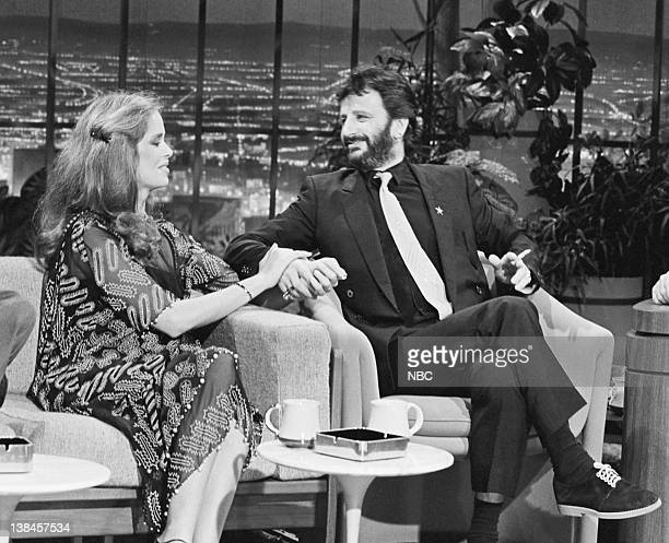 CARSON Air Date Pictured Actress Barbara Bach with husband musician Ringo Starr during an interview on May 6 1981