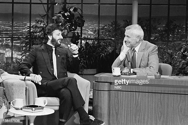 CARSON Air Date Pictured Musician Ringo Starr during an interview with host Johnny Carson on May 6 1981