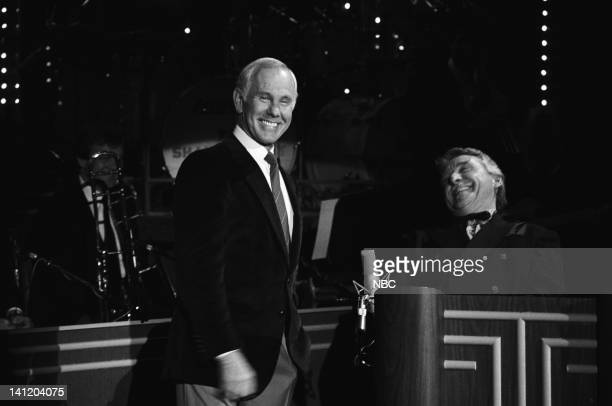CARSON Air Date Pictured Host Johnny Carson band leader Doc Severinsen Photo by Gary Null/NBCU Photo Bank