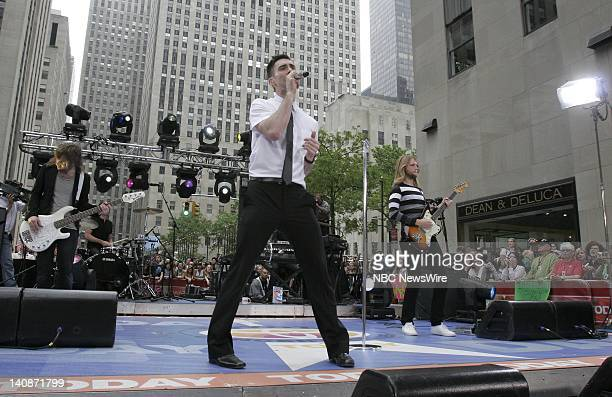 Musical guest Maroon 5 performs on NBC News' 'Today' on May 29 2007 Photo by Heidi Gutmann/NBC NewsWire
