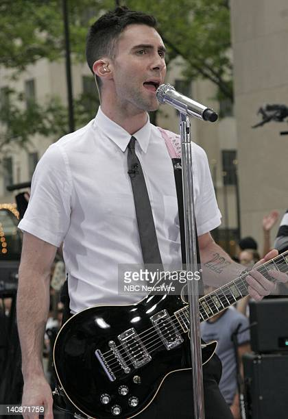 Singer Adam Levine of musical guest Maroon 5 performs on NBC News' 'Today' on May 29 2007 Photo by Heidi Gutmann/NBC NewsWire