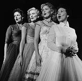 Actress Jane Russell singer Beryl Davis actress Rhonda Fleming singer Connie Haines Photo by NBCU Photo Bank