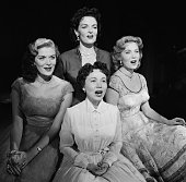 Actresses Jane Russell Rhonda Fleming singer Connie Haines Beryl Davis Photo by NBCU Photo Bank