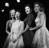 Singers Beryl Davis Connie Haines actresses Jane Russell Rhonda Fleming Photo by NBCU Photo Bank