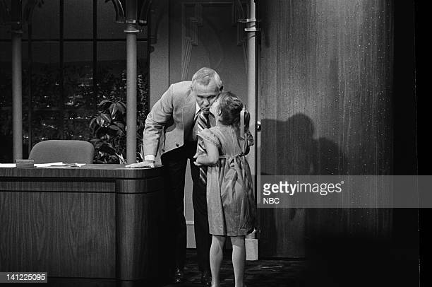 CARSON Air Date Pictured Host Johnny Carson Actress Drew Barrymore Photo by Gene Arias/NBCU Photo Bank