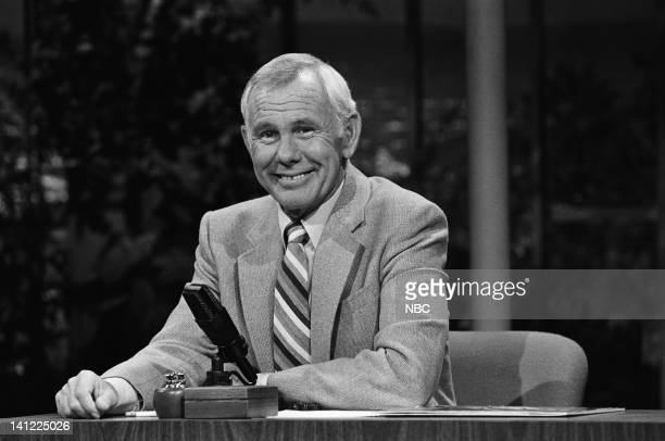 CARSON Air Date Pictured Host Johnny Carson Photo by Gene Arias/NBCU Photo Bank