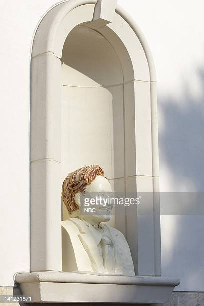 BRIEN Air Date Episode 53 Pictured A bust of host Conan O'Brien made of white chocolate and bacon on August 26 2009 Photo by Paul Drinkwater/NBCU...